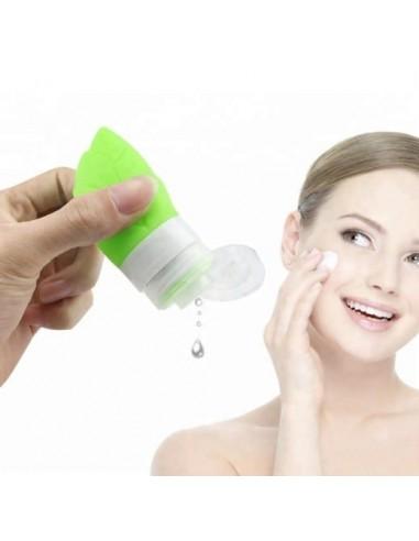 Botella de viaje 54ml para loción, crema, shampoo en forma de hoja