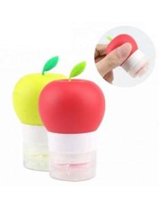 Botella de viaje 44 ml para loción, crema, shampoo en forma de manzana