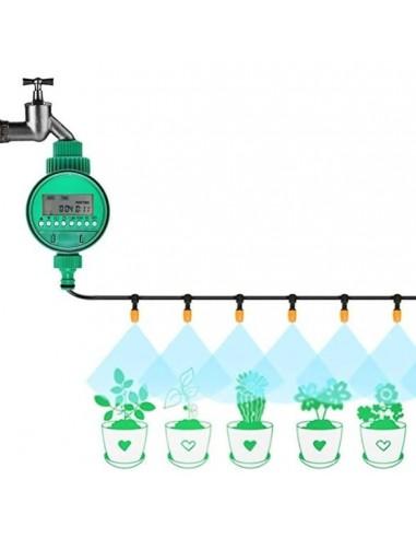 Temporizador de riego inalambrico - pantalla LED - plantas y áreas verdes