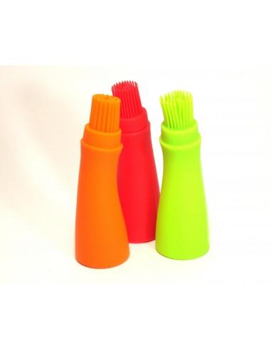 Botella con brocha para esparcir salsa - Silicona grado alimenticio