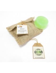 Jabón facial 100% natural y artesanal con aceite de coco para piel grasa