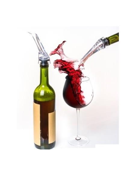 Vertedor aireador para botellas de vino