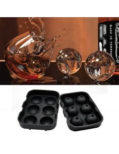 Molde con forma de esferas - 6 cavidades - Silicona de grado alimenticio