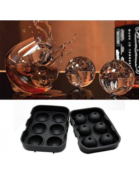 Molde con forma de esferas con embudo- 6 cavidades - Silicona de grado alimenticio