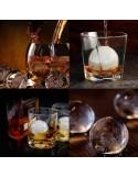 Molde con forma de esferas con embudo plegable - 6 cavidades - Silicona de grado alimenticio