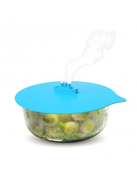 Tapas para cocción con salida de vapor en set de 3 piezas - Silicona de grado alimenticio