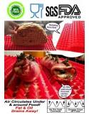 Alfombrilla piramidal para hornear o asar - Silicona de grado alimenticio