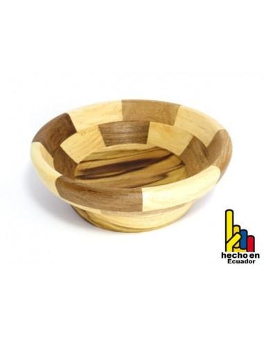 Cuenco de madera para bocadillos, fruta y ensalada
