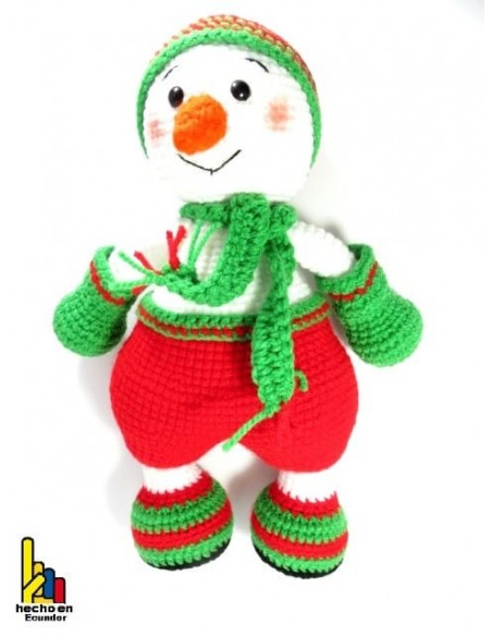Muñeco de nieve tejido a croché
