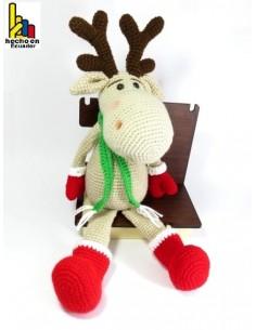 Reno navideño tejido a croché