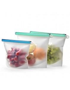 Juego de 2 fundas para almacenamiento - 1500 ml - Silicona grado alimenticio