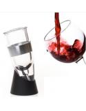 Aireador con base para vino - plástico/aluminio