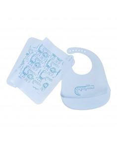 Babero para niños 12 meses en adelante con individual - Silicona de grado alimenticio - Pack Promo