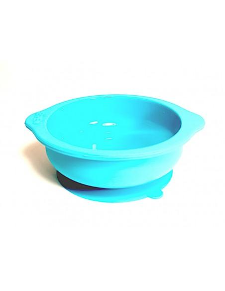Tazón antiderrame para bebé o niño pequeño con sujeción a la superficie por succión - Silicona de grado alimenticio