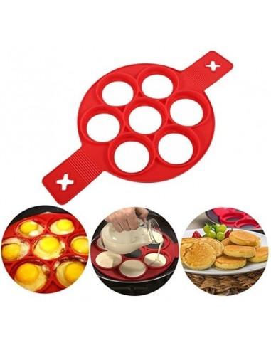 Molde de 7 espacios para panqueques, pastel de carne, galletas - Silicona grado alimenticio