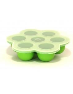 Bandeja con 7 compartimentos y tapa para almacenamiento de comida - Silicona de grado alimenticio