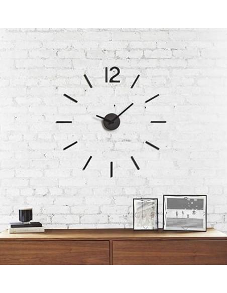 Reloj para pared metálico con adhesivos