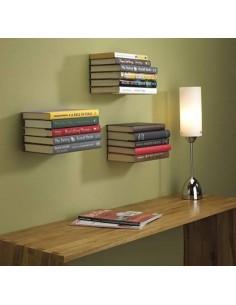 Repisa flotante metálica para libros invisible