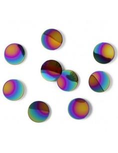 Puntos decorativos para pared con adhesivo tipo confeti multicolor